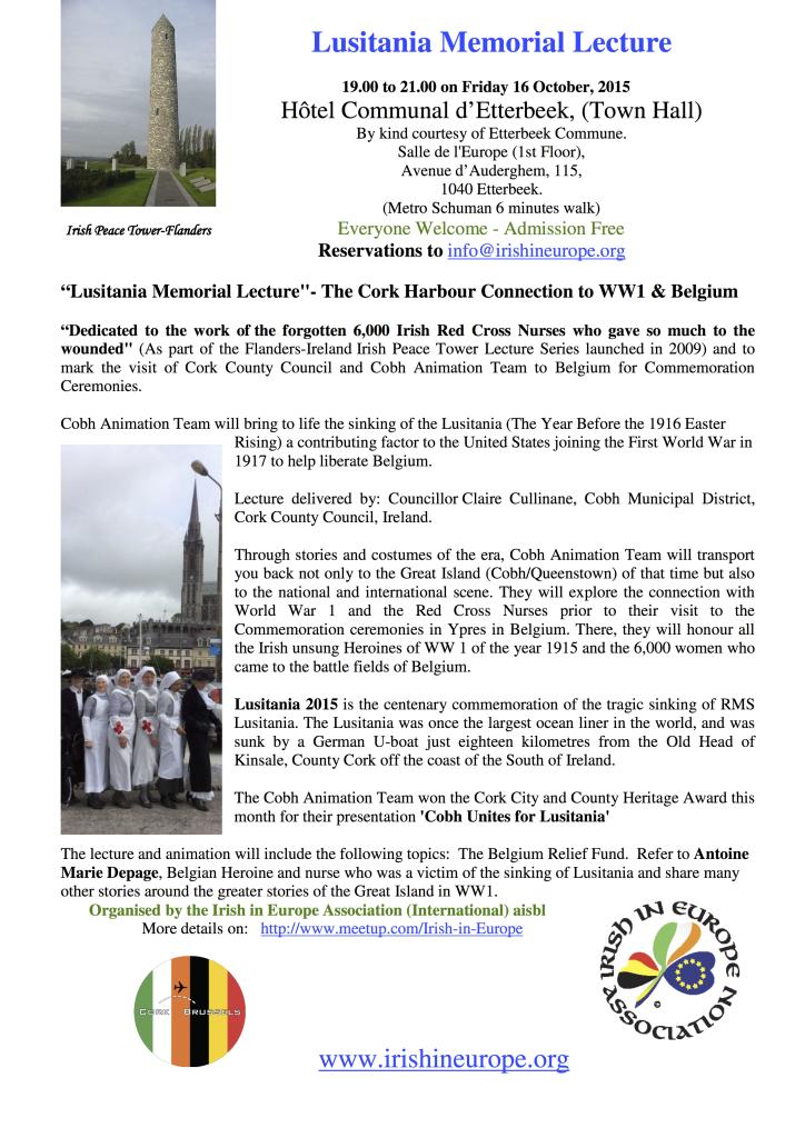 Lusitania Memorial Lecture,Poster