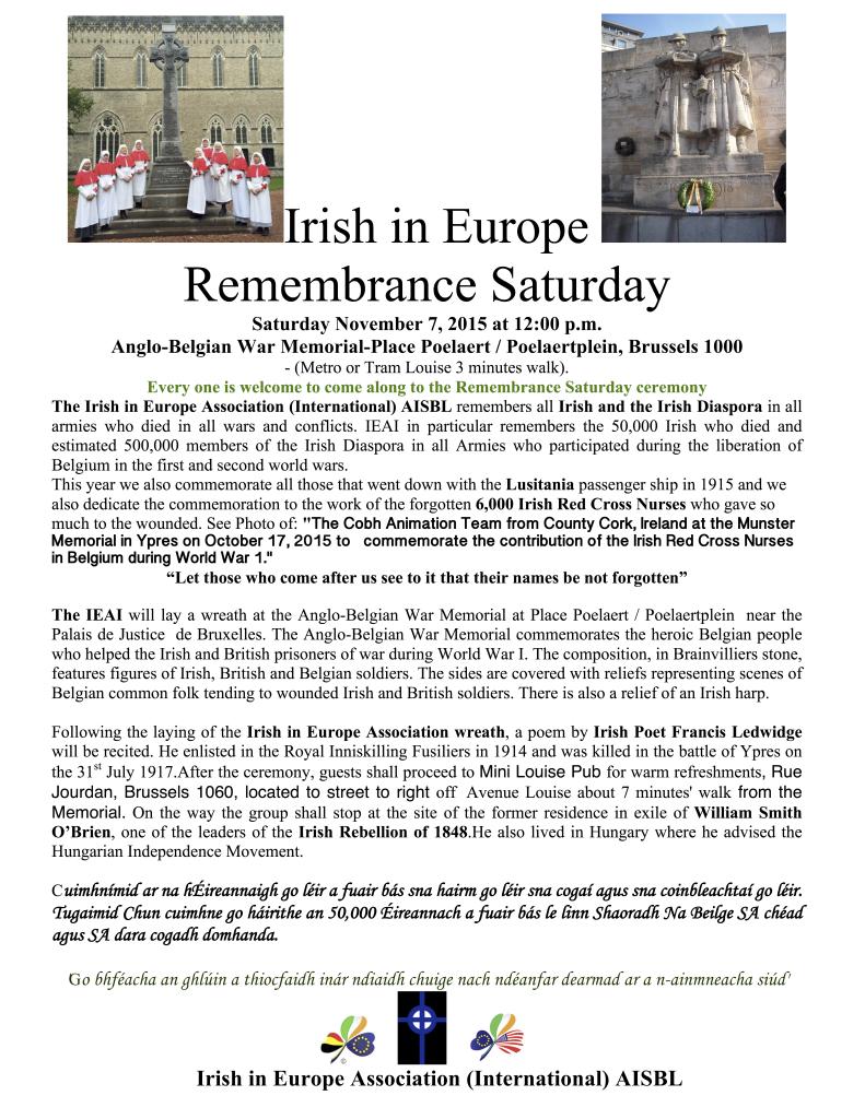 Remembrance Saturday Poster  7  November,2015
