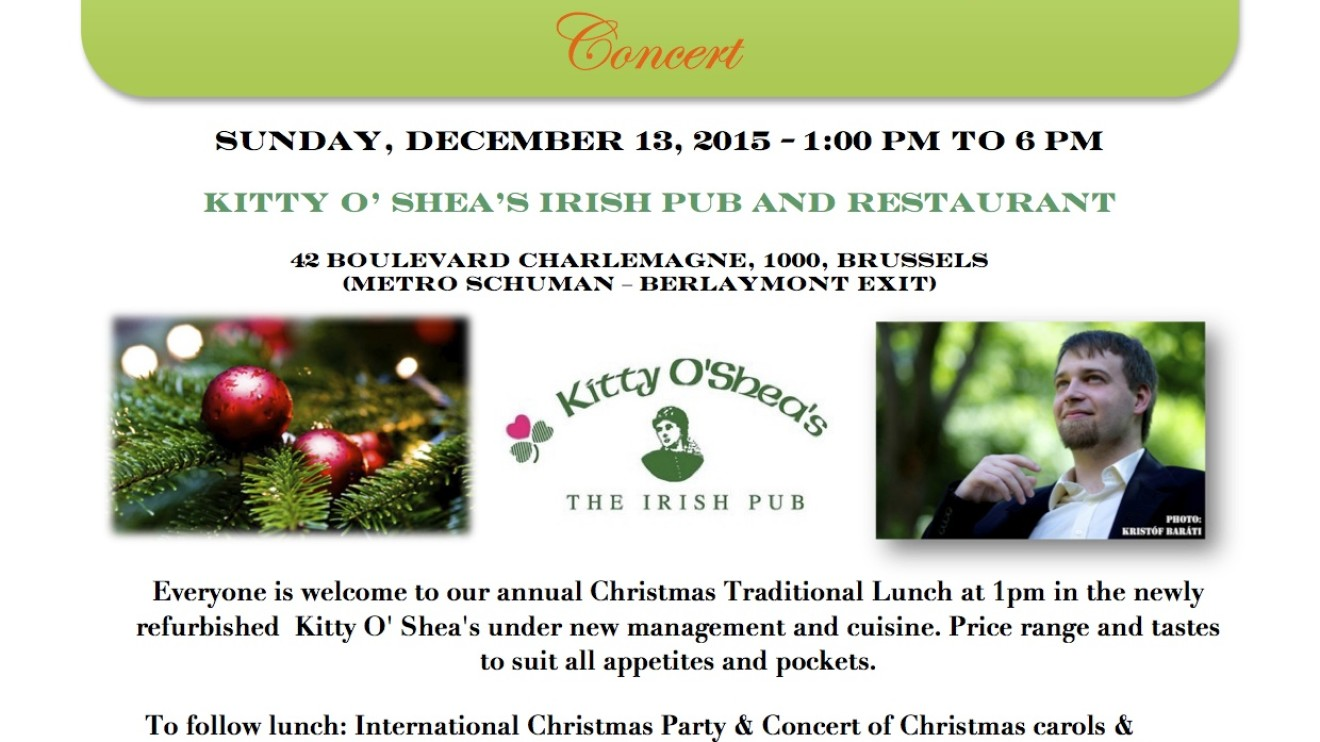 Irish in Europe Annual Christmas Lunch & 3rd International Christmas Party & Concert