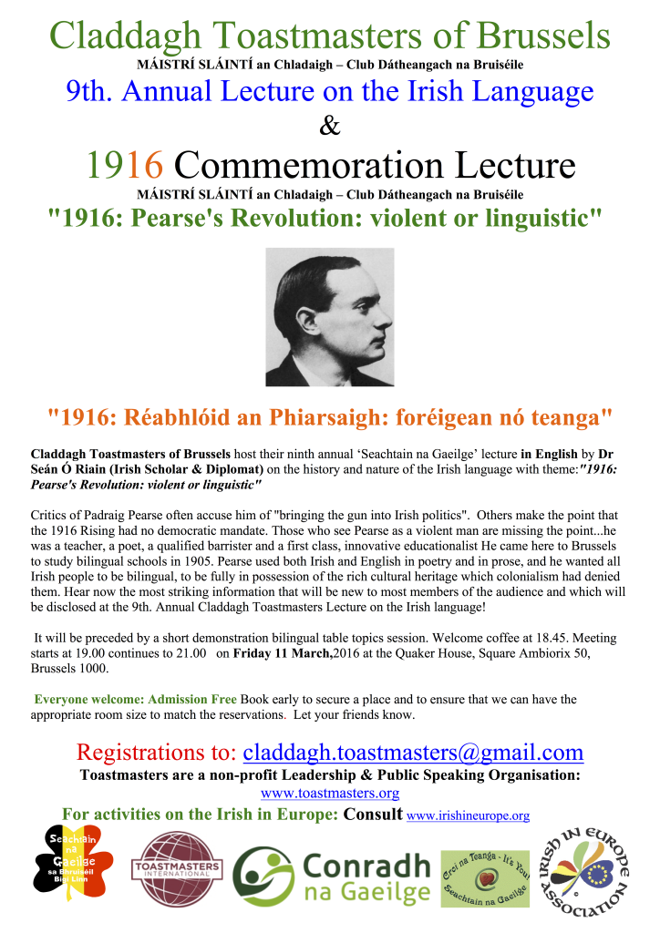 Claddagh  9th lecture-poster  11 March 2016