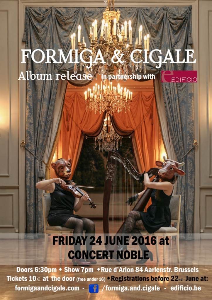 formiga and cigale albumn release-poster