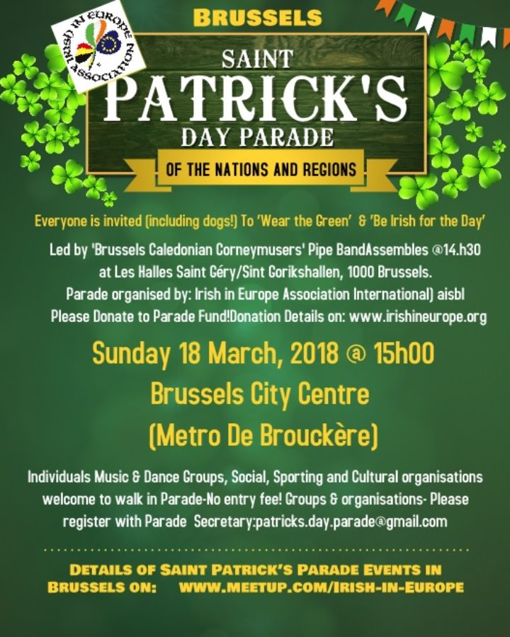 10th Annual Brussels Saint Patrick´s Day Parade of the Nations & Regions